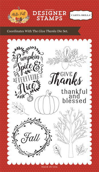 CBHF70045 Give Thanks <br>4X6 Stamp