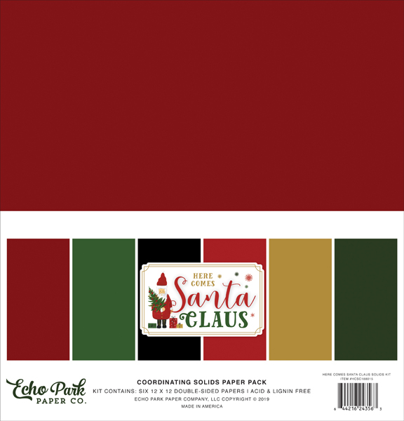 HCSC188015 Here Comes Santa Claus Solids Kit