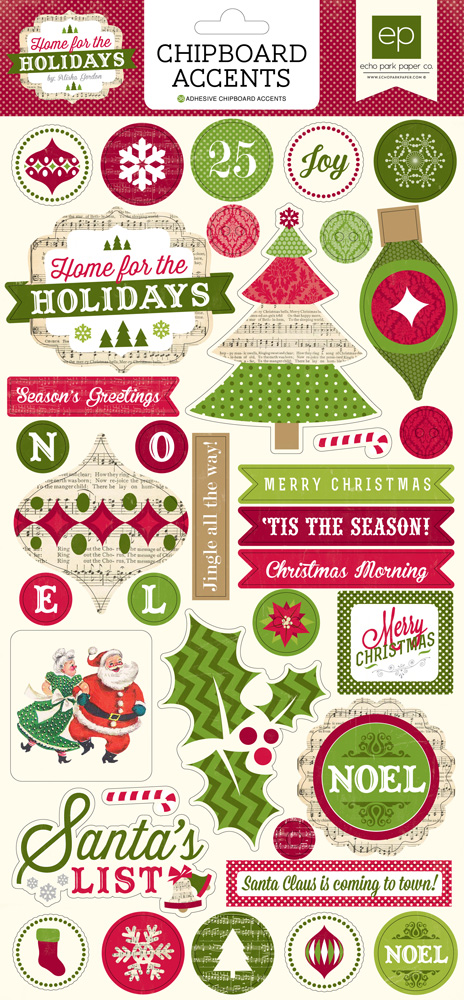 HH73022 Holidays 6x12 Chipboard