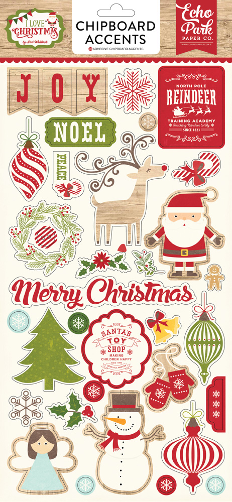 ILC114022 I Love Christmas 6x13 Chipboard