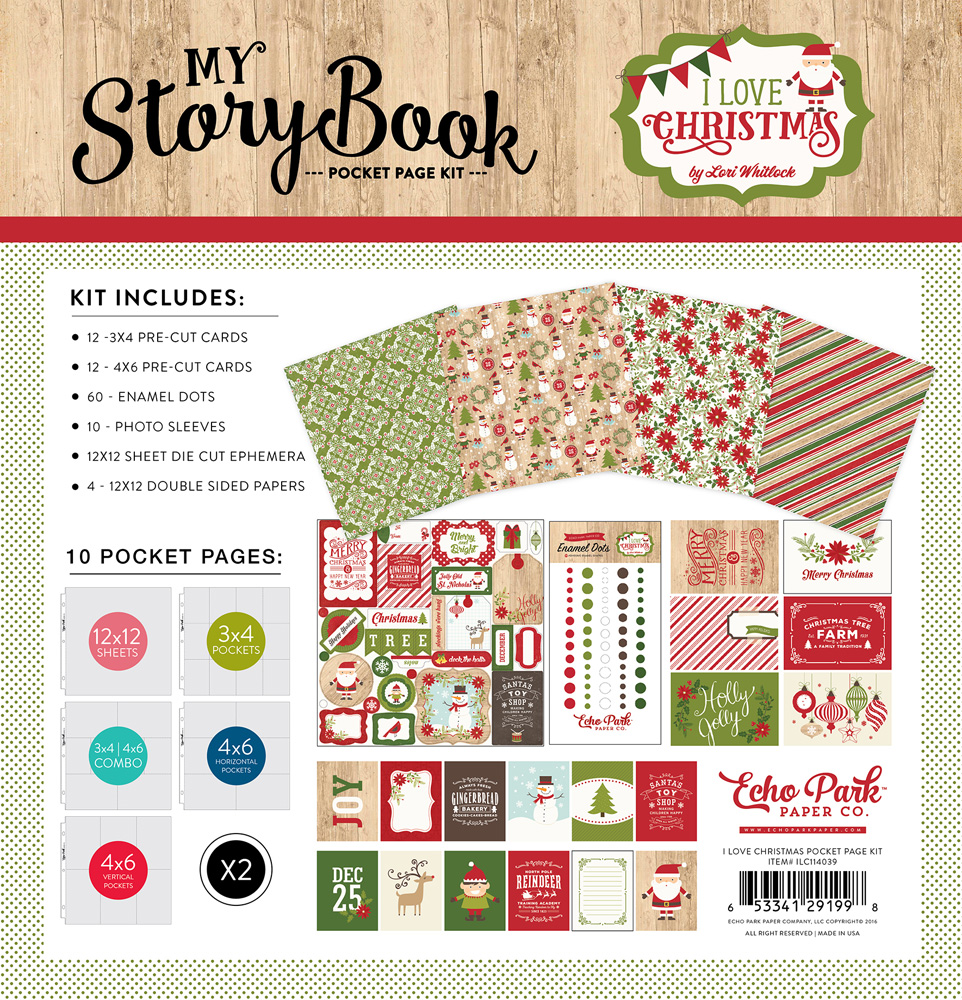 ILC114039 I Love Christmas Pocket Page Kit