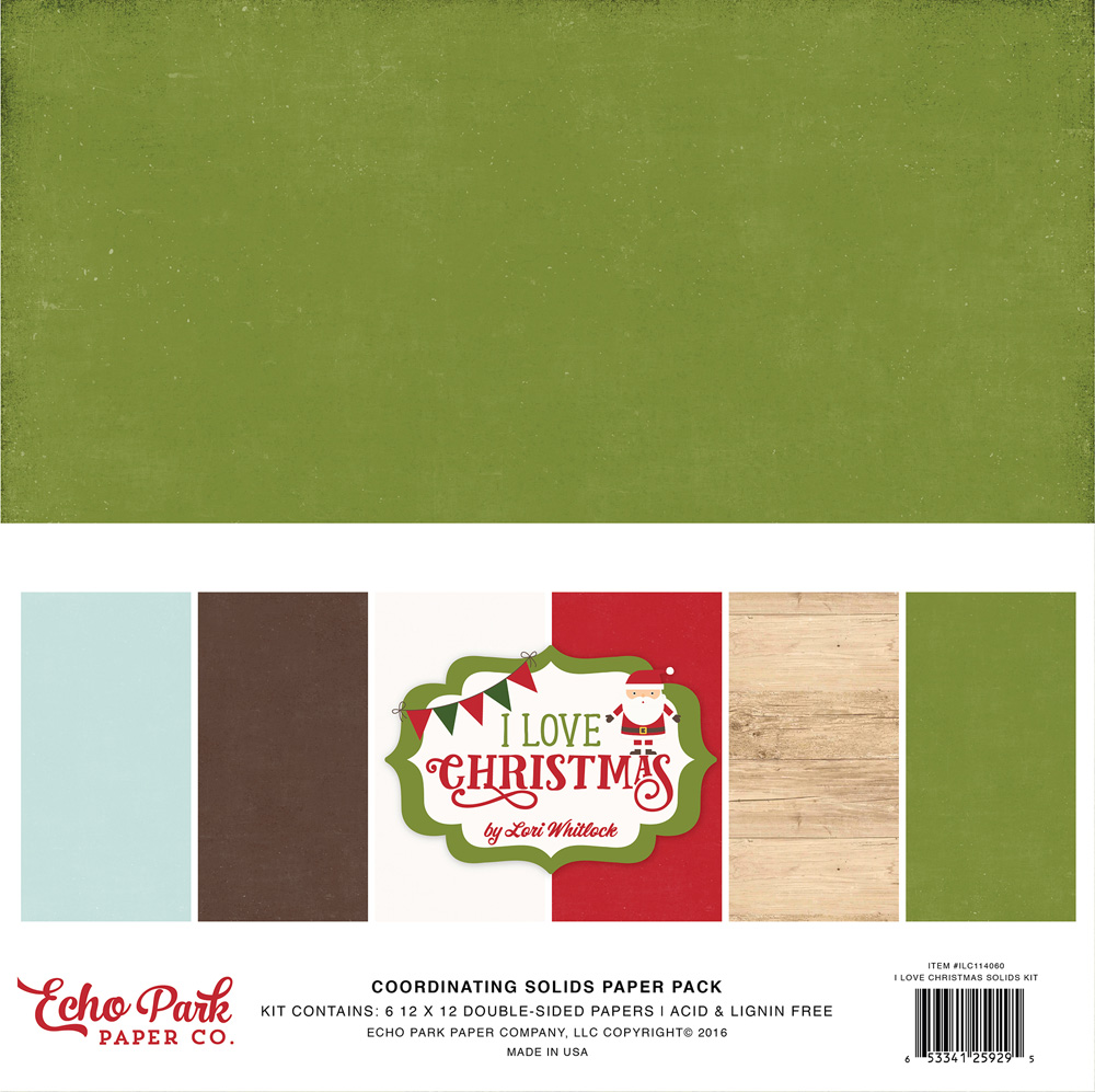 ILC114060 I Love Christmas Solids Paper Pack
