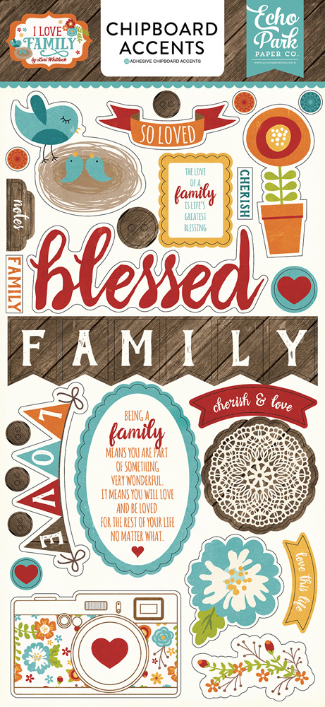 ILF113022 I Love Family 6x12 Chipboard