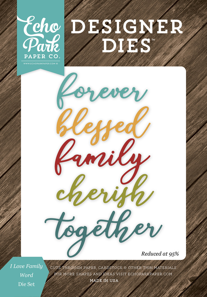 ILF113043 I Love Family Word <br>Die Set