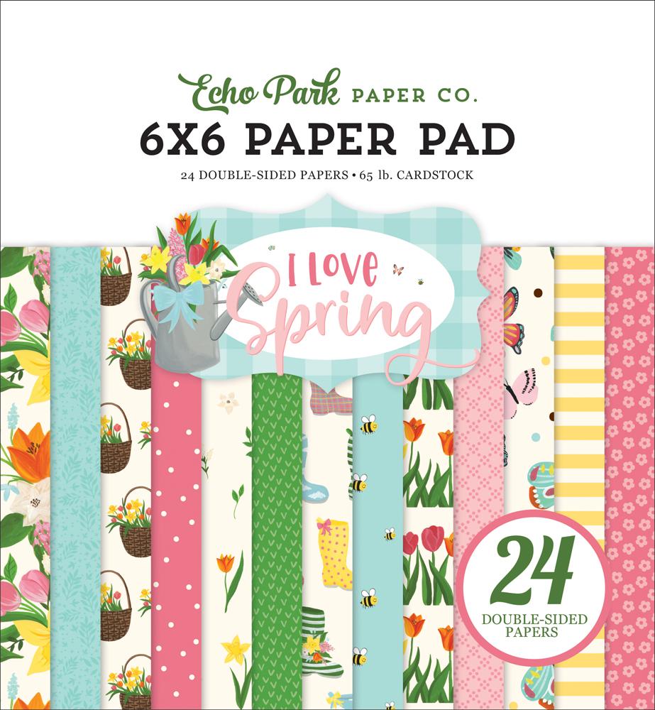 Echo Park I Love Spring Washi Tape 30/' Springtime Plaid 644216291663