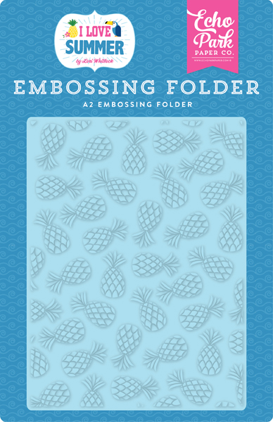 SU178032 Summer Pineapples Embossing Folder