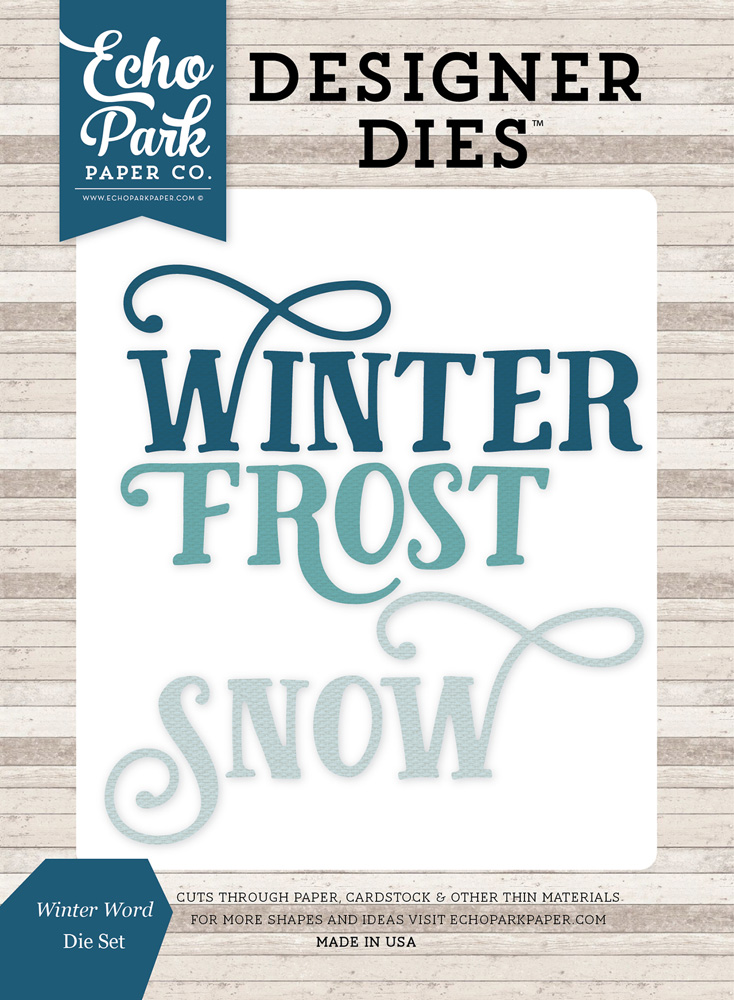 ILW115045 Winter Word <br>Die Set