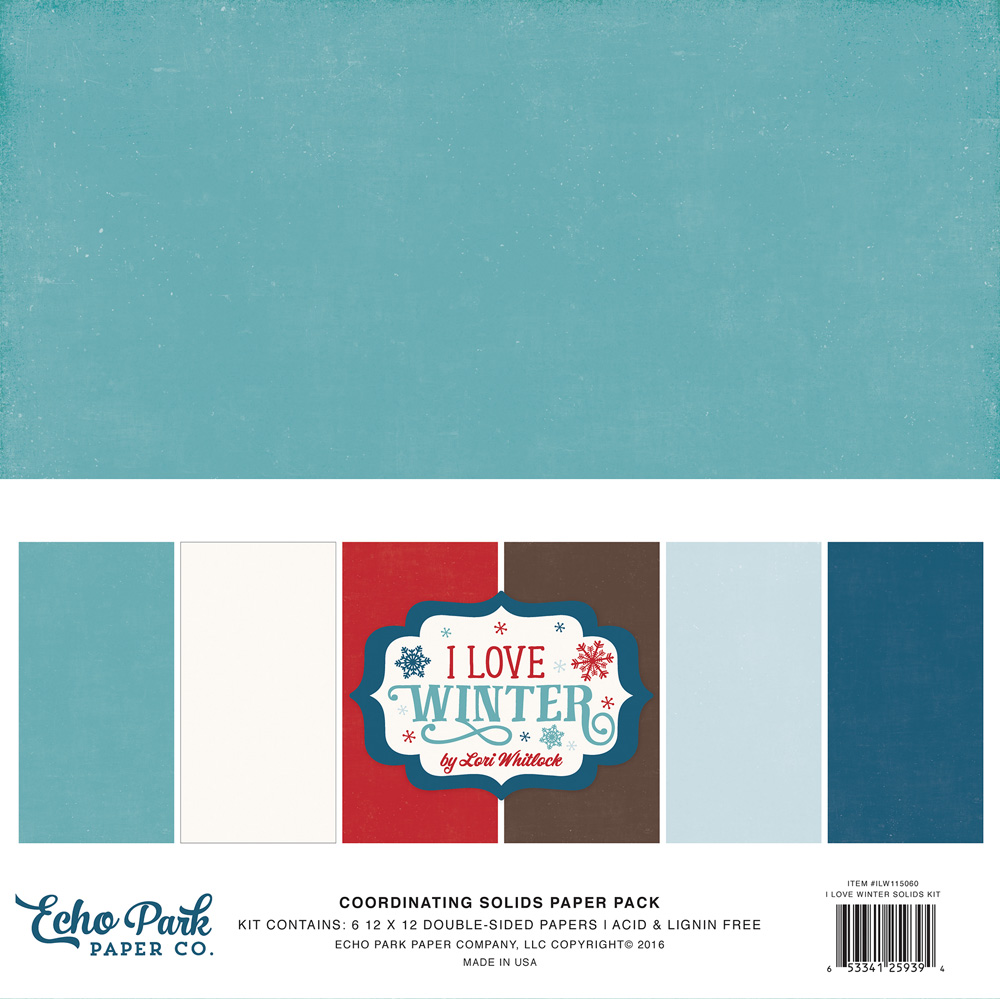 ILW115060 I Love Winter Solids Paper Pack