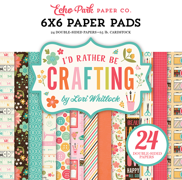 IBC138023 I'd Rather Be Crafting 6x6 Paper Pad