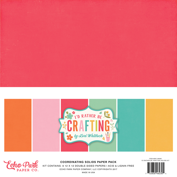 IBC138060 I'd Rather Be Crafting Solids Pack
