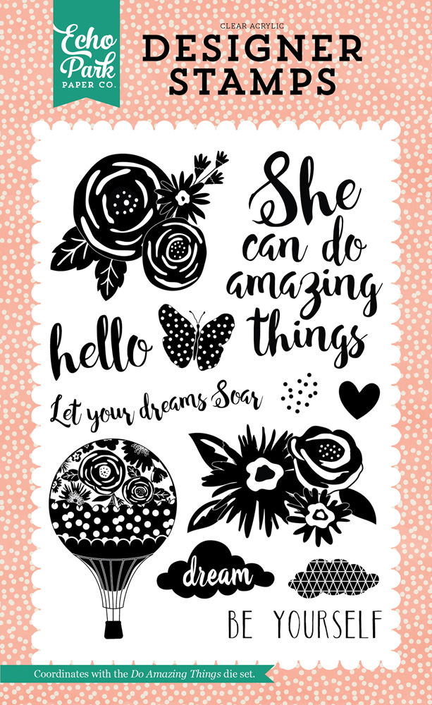 JBY119047 Do Amazing Things Stamp