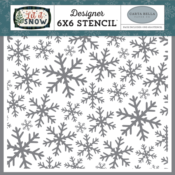 CBIS92034 Frosted Window Panes Stencil