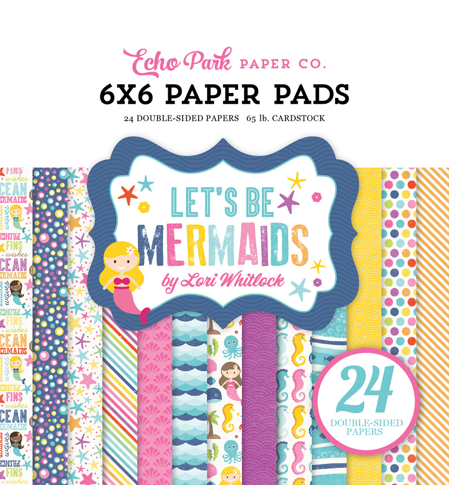 LBM110023 Let's Be Mermaids 6x6 Paper Pad