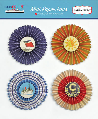 CBLC65063 Lets Cruise Mini Paper Fans
