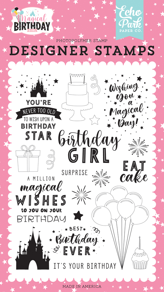 Echo Park Paper Company Magical Birthday Girl Collection Kit paper