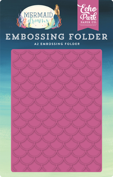 MDR175031 Mermaid Scales Embossing Folder