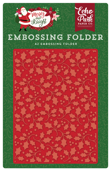 MB160030 Holly Branch Embossing Folder
