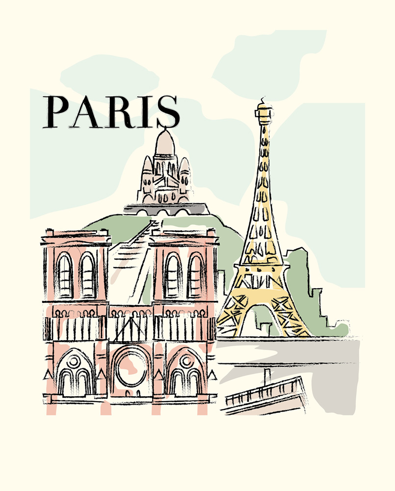 CBMG60072 8x10 Paris Art Print
