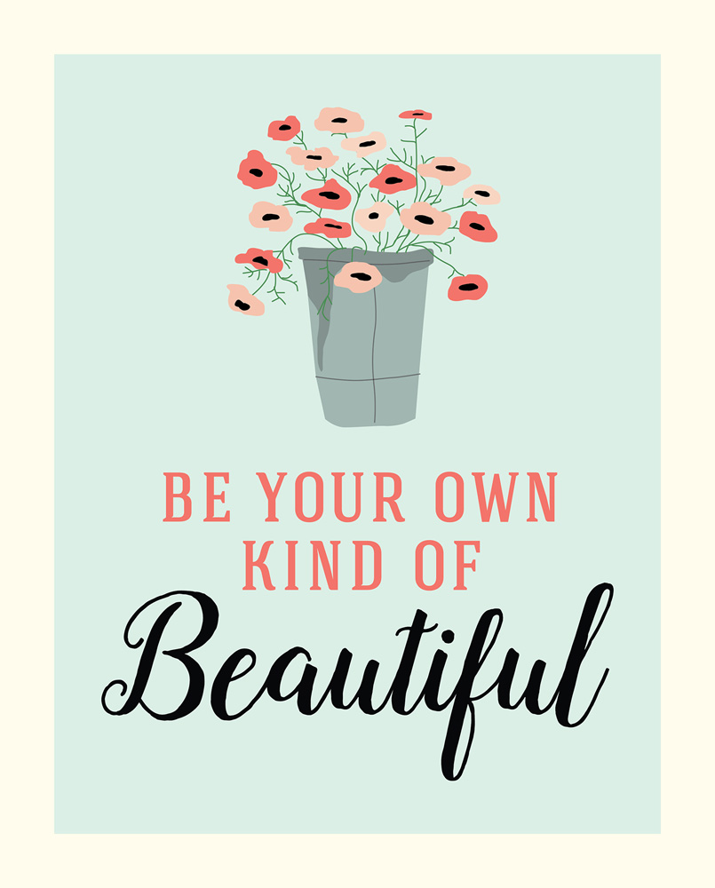 CBMG60074 8X10 Be Beautiful Art Print