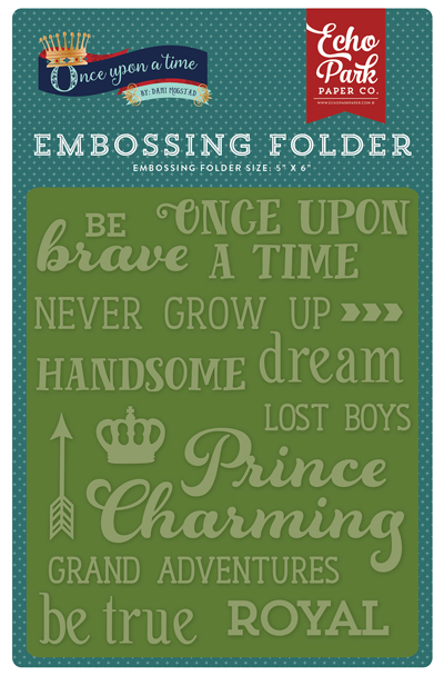 OUB123032 Embossing Folder - Once Upon a Time Word