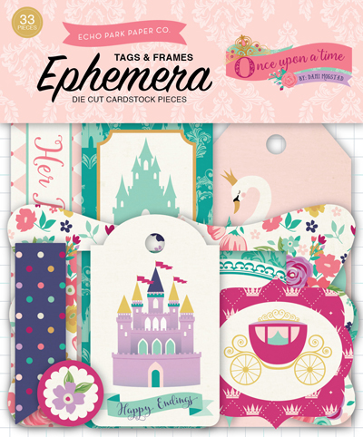 OUG122021 Once Upon A Time-Princess Frames & Tags Ephemera