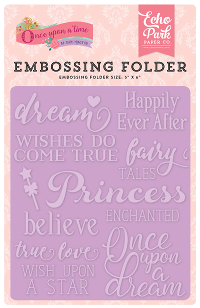 OUG122031 Embossing Folder - Fairytale Word