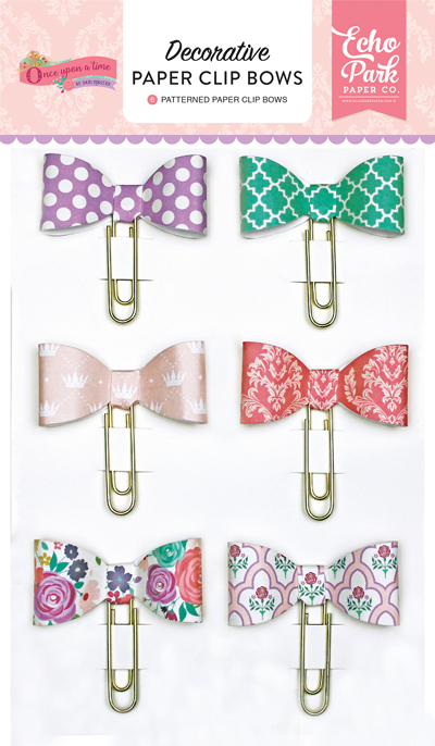 OUG122062 Once Upon A Time - Princess Decorative Paper Clip Bows