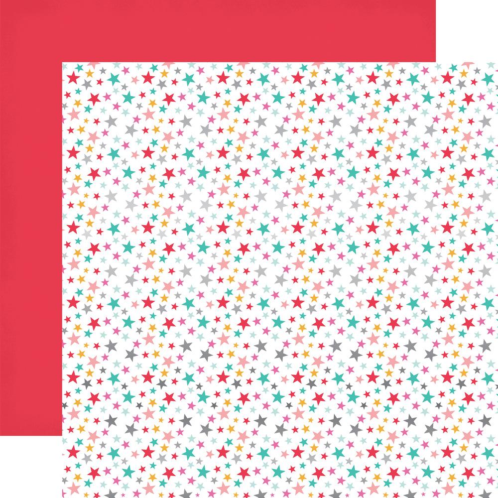 Scrapbook paper echo park -  Pt108050 Star Foil