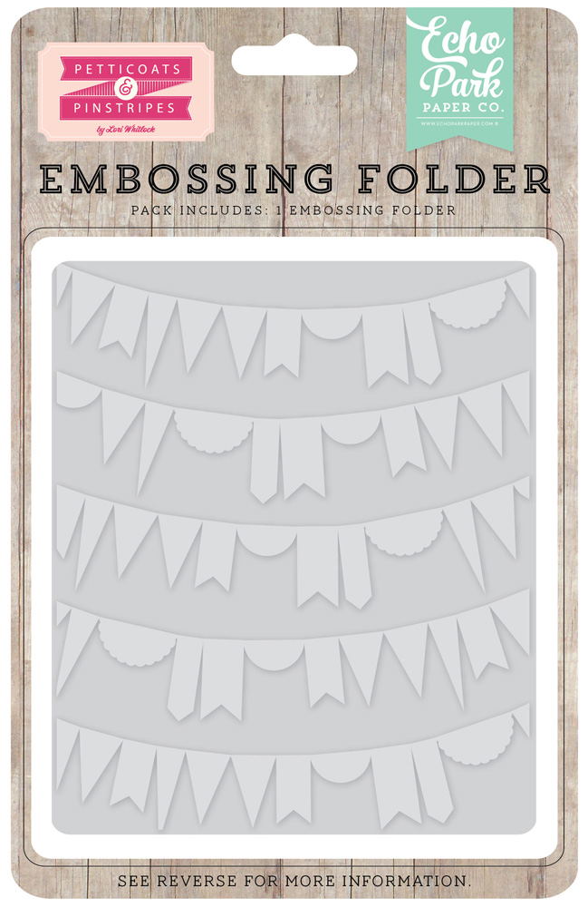 PC103031 Embossing Folder - Curved Pennant