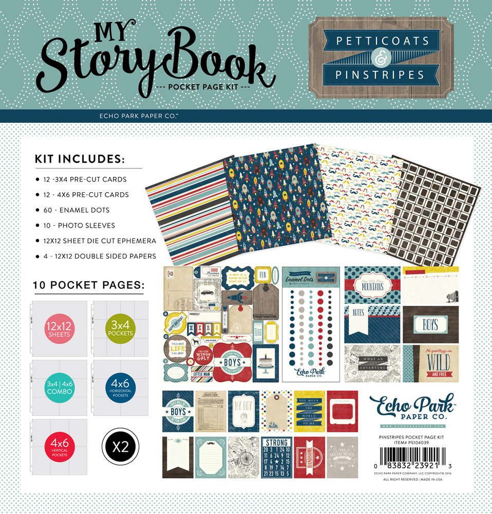 PS104039 Pinstripes Pocket Page Kit