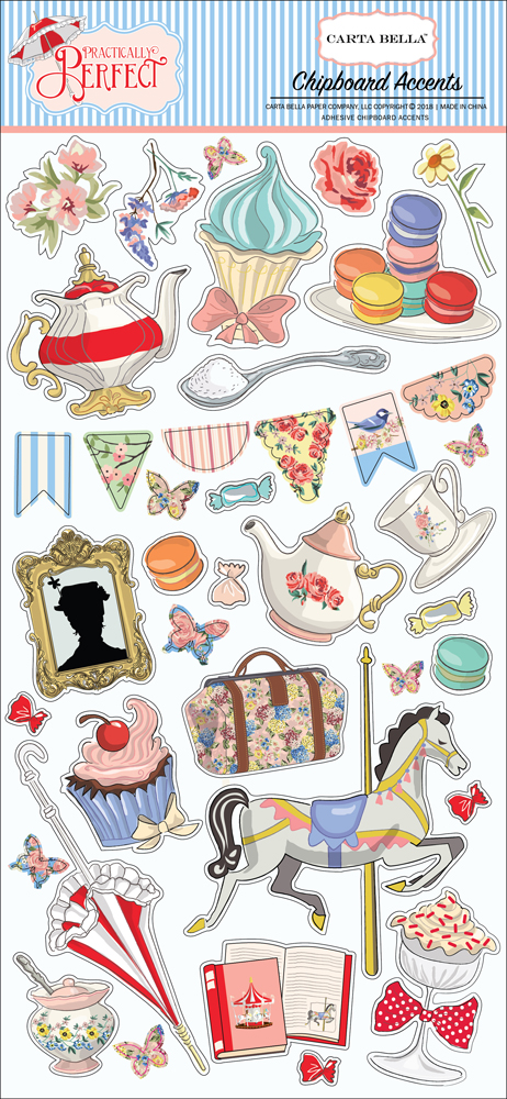 CBPP81021 Practically Perfect 6X13 Chipboard Accents