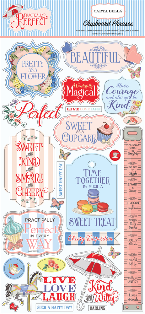 CBPP81022 Practically Perfect Chipboard Phrases