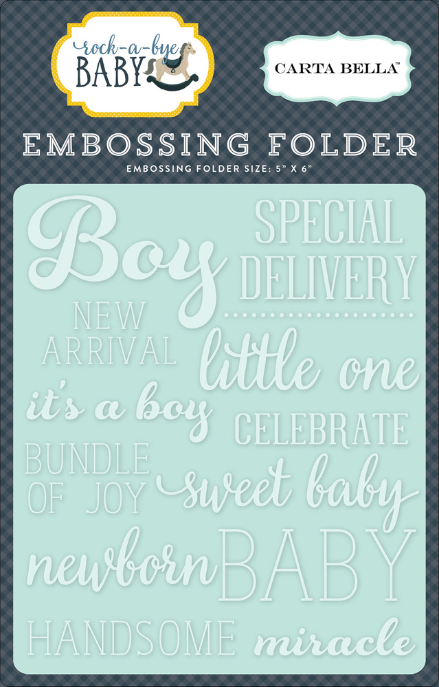 CBRBB64031 Embossing Folder -Little One Boy