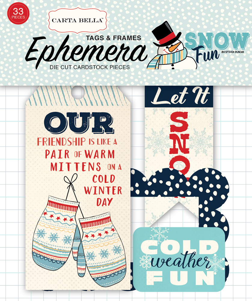 CBSF59021 Snow Fun Tags & Frames Ephemera