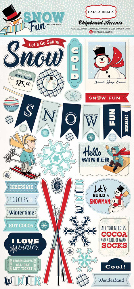 CBSF59022 Snow Fun 6x12 Chipboard
