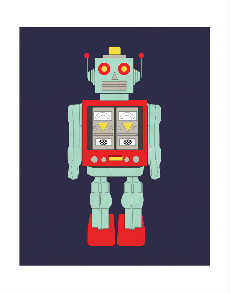 CBSA61074 Robot 11X14 Art Prints