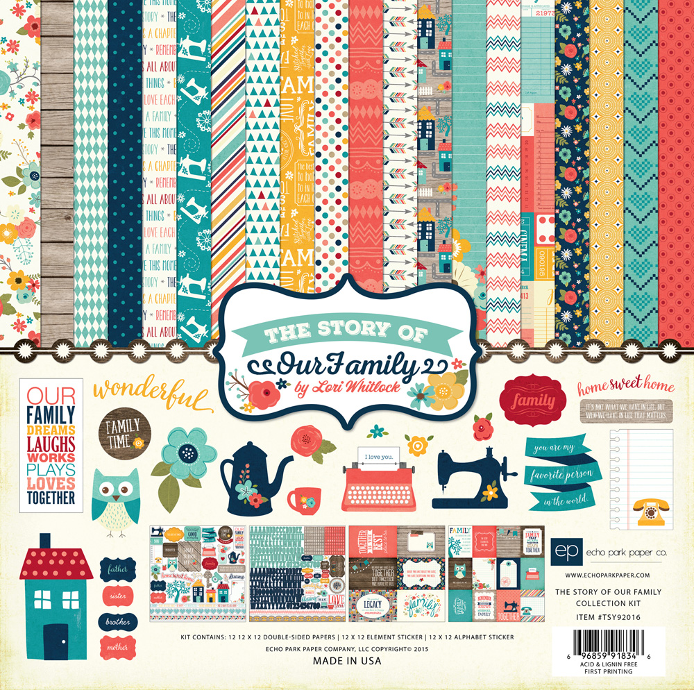 Scrapbook paper echo park - Tsy92015 Alpha Stickers Tsy92016 Collection Kit