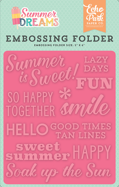 DR126032 Embossing Folder - Summer is Sweet