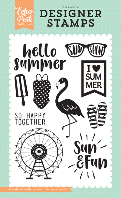 DR126046 I Heart Summer Stamp