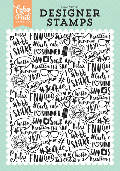 DR126047 Summer Vibes A2 Background Stamp