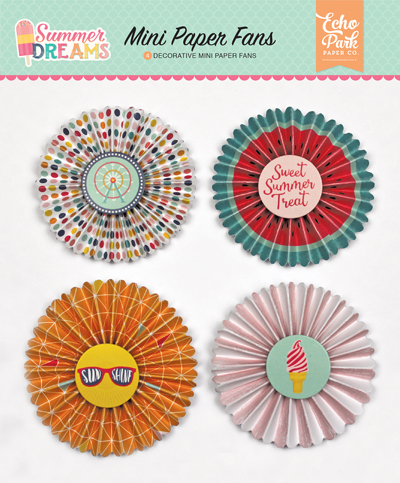 DR126063 Summer Dreams Mini Paper Fans