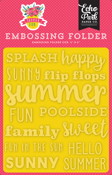 SF125031 Embossing Folder - Sunny Summer