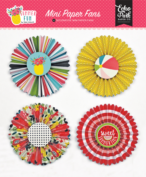 SF125063 Summer Fun Mini Paper Fans