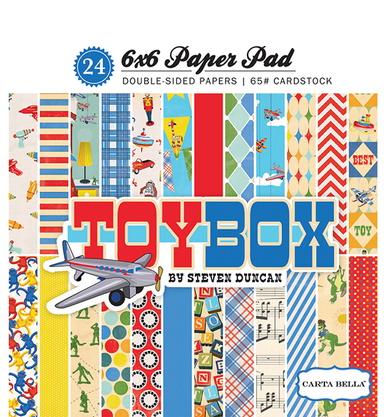 CBTB66015 Toy Box 6x6 Paper Pad