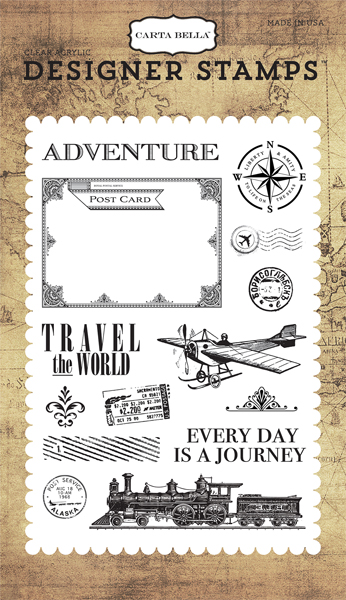 CBTR68040 Travel The World 4X6 Stamp