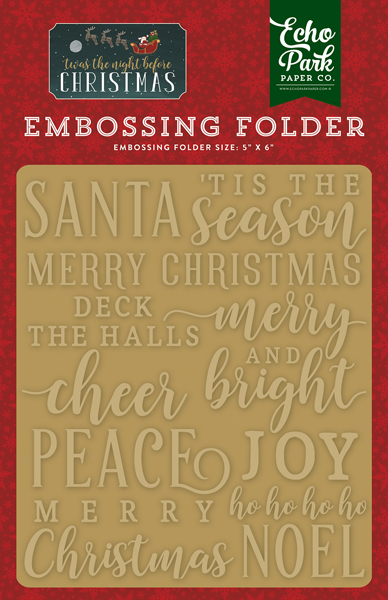 TNC134031 Embossing Folder - Merry & Bright