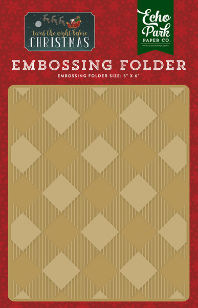 TNC134032 Embossing Folder - Buffalo Plaid