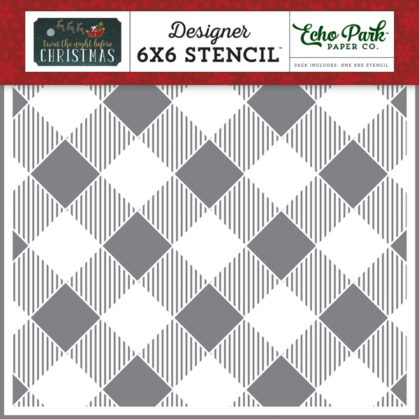 TNC134033 Diagonal Buffalo Plaid Stencil