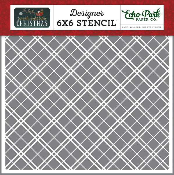 TNC134035 Christmas Plaid Stencil