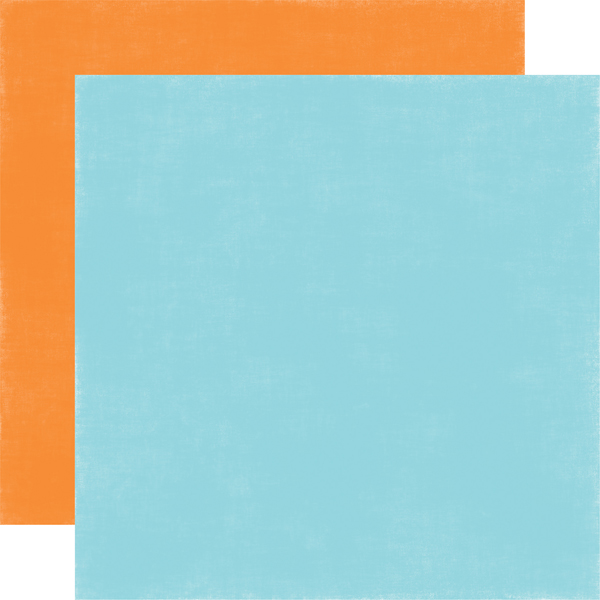 Light Blue / Orange<br> Coordinating Solid
